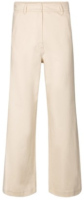 S Max Mara Sesto high-rise cropped stretch-cotton pants