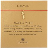 """Dogeared L.O.V.E Necklace Love Word On Red Silk Gold, 16"""""""