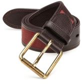 Burberry Canvas Check Leather Belt