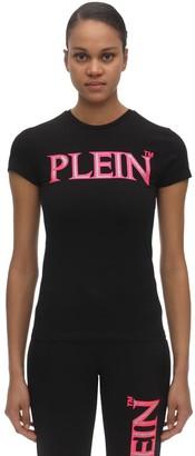 Philipp Plein Embellished Logo Print Jersey T-Shirt