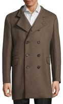 Eleventy Double-Breasted Officer Coat