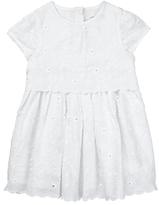 John Lewis Broderie Dress, White