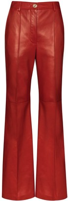 Gucci Plonge leather flare trousers