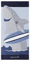 Pottery Barn Kids Indigo Shark Kid Beach Towel, Navy Multi