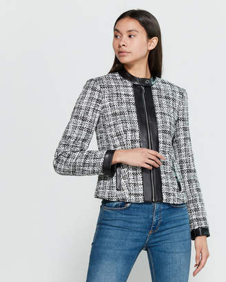 Calvin Klein Tweed Contrast Suit Jacket