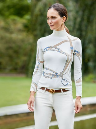 J.Mclaughlin Lenny Turtleneck in Monterrey Belt