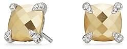 David Yurman Chatelaine Stud Earrings with 18K Gold and Diamonds
