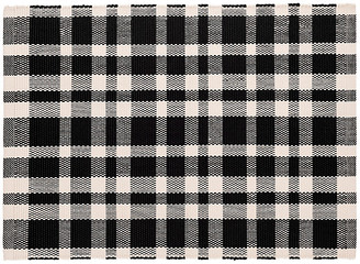 Dash & Albert Tattersall Indoor/Outdoor Rug - Black/White 5'x8'