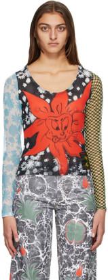 Chopova Lowena Multicolor Mesh Indy Long Sleeve T-Shirt