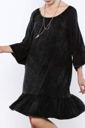 Andree Blue Distressed Dress
