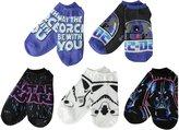 Star Wars Disney Big Girls' 5 Pack No Show Socks 3