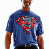 JCPenney Novelty T-Shirts Superman Distressed Shield Tee-Big & Tall