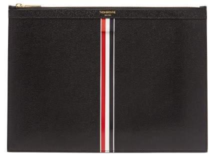 Thom Browne Pebbled Leather Document Holder - Mens - Black