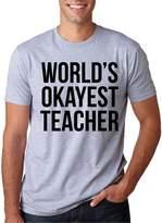 Crazy Dog T-shirts Crazy Dog Tshirts Word's Okayest Teacher Funny Academic Professor Tee
