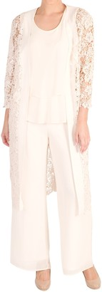 Chesca Lace Scalloped Coat, Blonde