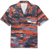 Folk Goss Brothers Setting Sun Camp-Collar Printed Cotton-Twill Shirt