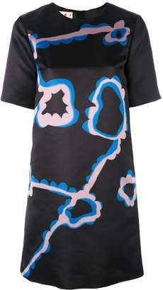 Marni abstract floral A-line dress