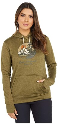Burton Oak Pullover Fleece (True Black Heather) Women's Clothing