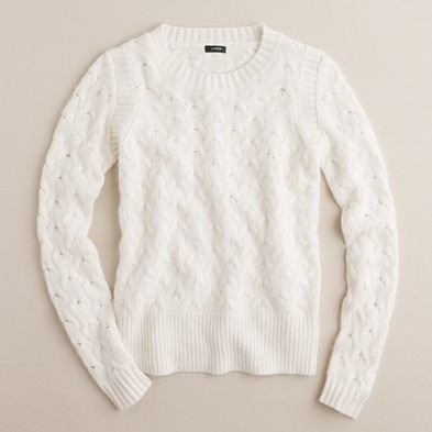 J.Crew Honeycomb cable sweater