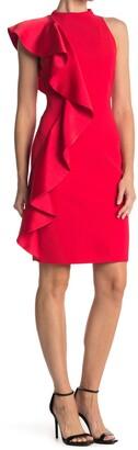 Alice + Olivia Stephanie Ruffle Sleeveless Dress