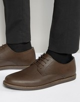 Frank Wright Trinder Lace Up Shoes In Brown Leather