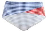 Marysia Swim Sagaponack Gingham Bikini Briefs - Womens - Multi