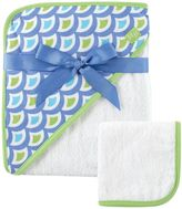 Baby Vision Hudson Baby® Waves Hooded Towel and Washcloth Set in Green