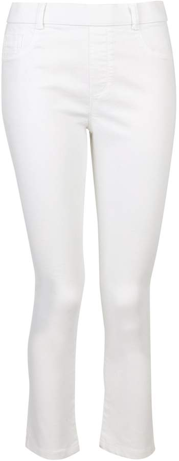 Dorothy Perkins Womens **Tall White 'Eden' Super Soft Crop Jeans