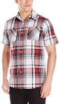 Akademiks Men's Jerry Plaid Button Down Shirt
