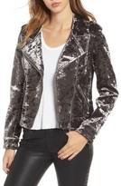 Blank NYC Women's Blanknyc Bonded Velvet Moto Jacket