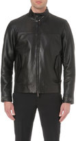 Canali Leather Blouson Jacket
