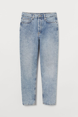 H&M Mom High Ankle Jeans - Turquoise