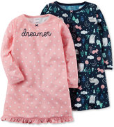 Carter's 2-Pk. Printed Nightgowns Set, Little Girls (4-6X) & Big Girls (7-16)