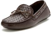 Bottega Veneta Men's Leather Intrecciato Driver Shoe
