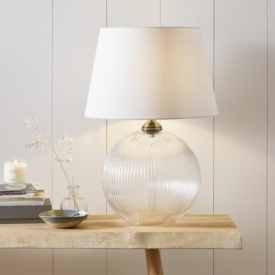 The White Company Overton Table Lamp, Clear, One Size