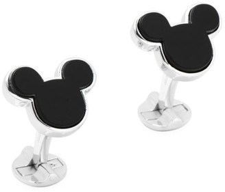 Cufflinks Inc. Disney Sterling Silver and Onyx Mickey Mouse Cufflinks