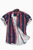 Urban Outfitters Vintage Vintage '90s Vertical Stripe Short Sleeve Button-Down Shirt