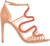 Alexandre Birman Flavia sandals - women - Cotton/Leather/Suede - 37
