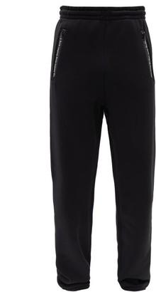 Acne Studios Zip-pockets Cotton-blend Track Pants - Mens - Black