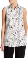 Jason Wu Scribble Silk Lined Tank