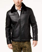 INC International Concepts Men's Faux Leather Bomber Jacket, Created for Macy's