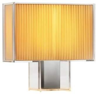 Kartell Plastic Tati Table Lamp, Natur/Plissé-Stoff