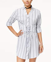 Ultra Flirt Juniors' Cotton Corset Shirtdress