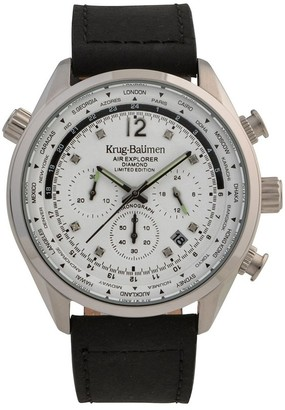 Krug Baumen Krug-Baumen 100201DM Mens Air Explorer Diamond Limited Edition Watch