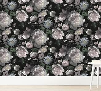 Pottery Barn Kids Tempaper Moody Floral Wallpaper