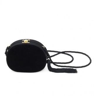 Celine Triomphe Black Velvet Handbags