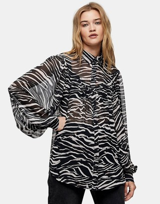 Topshop oversized animal shirt