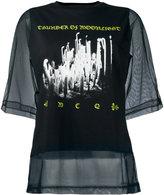 McQ by Alexander McQueen sheer layer T-shirt - women - Polyester/Cotton - XS