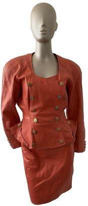 Jitrois Orange Leather Jackets