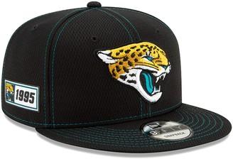 New Era Youth Black Jacksonville Jaguars 2019 NFL Sideline Road 9FIFTY Snapback Adjustable Hat